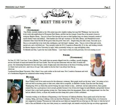 The guys had a lot of fun writing these bios.