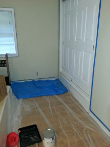 Getting ready to paint our guest room! I think the prep work is the longest part of any DIY project!