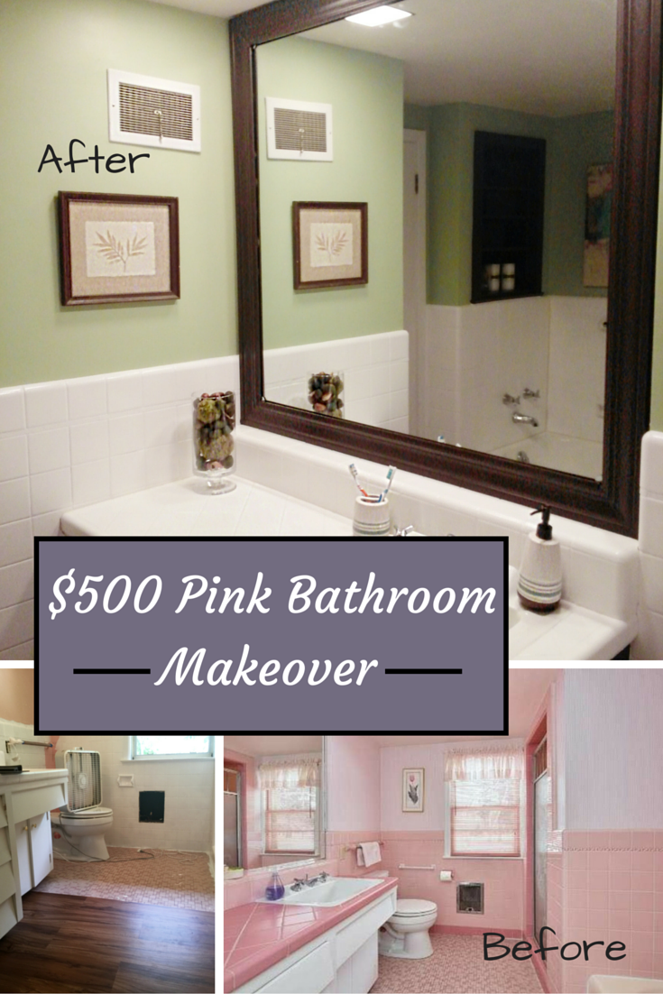 Bathroom Makeovers Under $500 $500 pink bathroom makeover – inky pinky diy