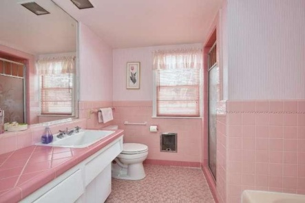 The untouched pink bathroom