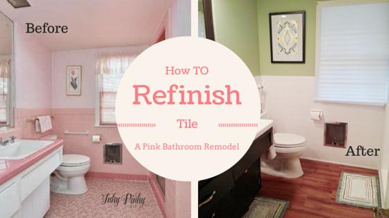 how to refinish bathroom tile: the 'de-pinkified' bathroom – inky