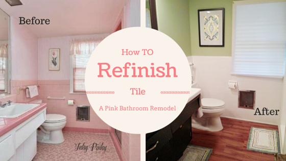 Refinish Bathroom Tile how to refinish bathroom tile: the 'de-pinkified' bathroom – inky